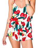 Show Me Your Mumu Rorey Romper in Flamingo Flower Stretch - SWANK - Jumpsuits - 4