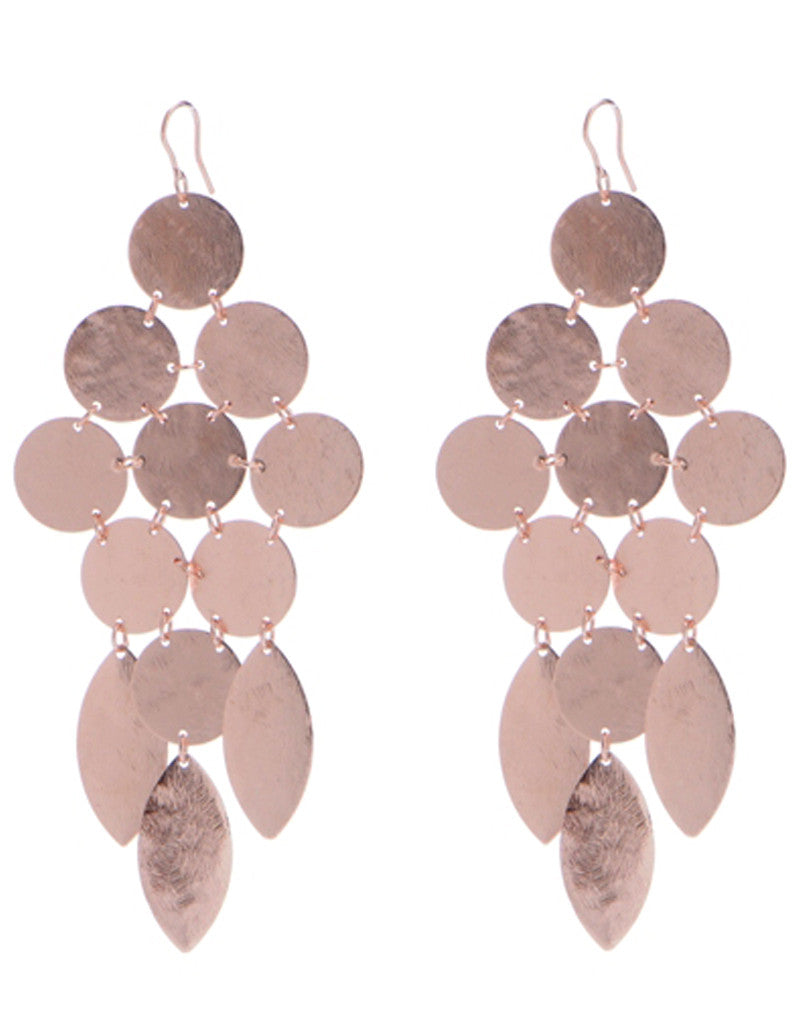 Chandelier Earrings in Rose Gold - SWANK - Jewelry - 2