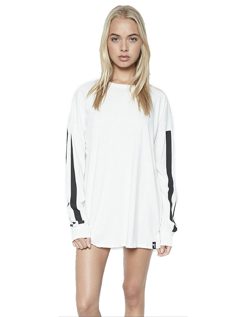 Michael Lauren Russell L/S Drop Shoulder Oversized Top - SWANK - Tops - 1