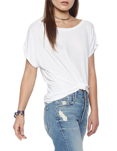 Michael Lauren Santi Off The Shoulder Tee in White