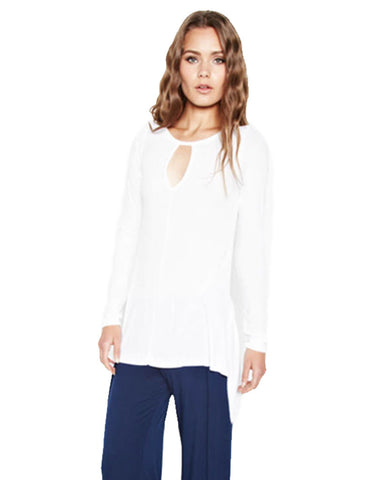 Michael Lauren Saxen Asymetrical Keyhole Top
