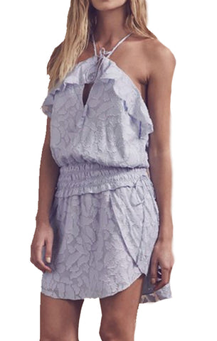 Saylor Cory Dress in Dusty Blue
