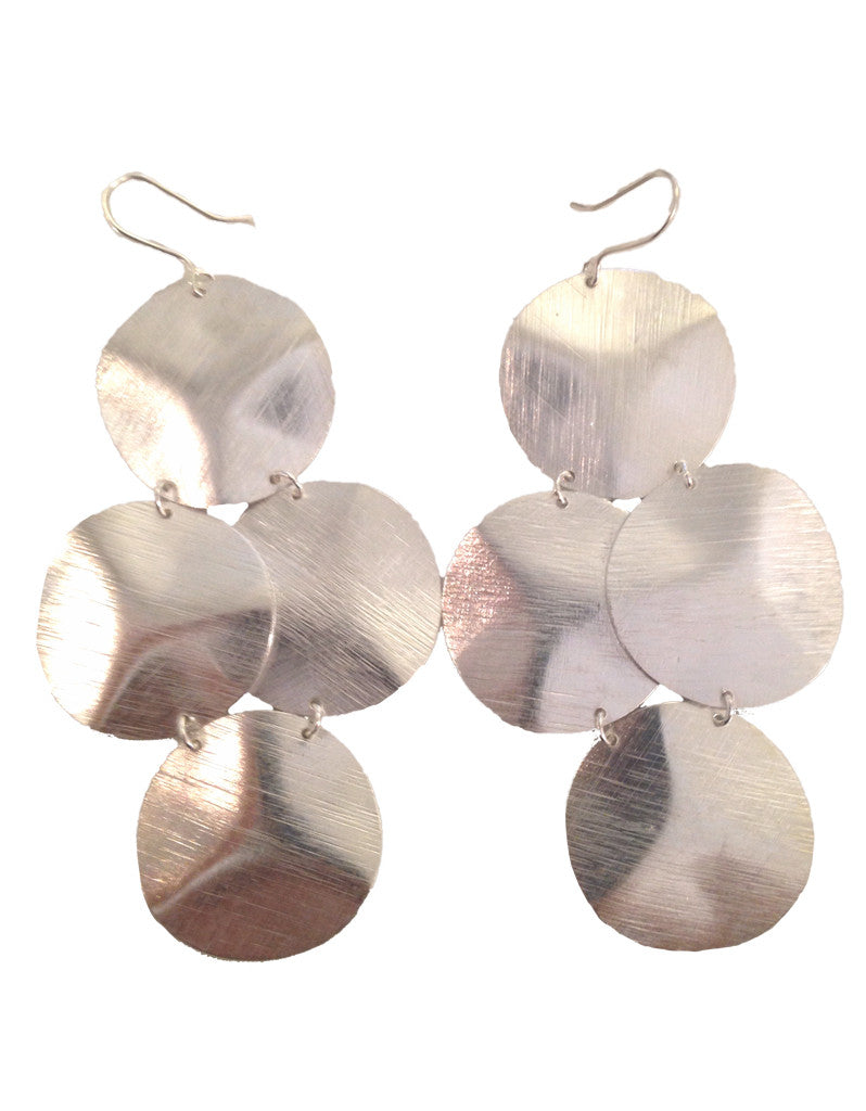 Emily Big Disc Earring in Silver **An Emily Dees Boulden Design** - SWANK - Jewelry - 3