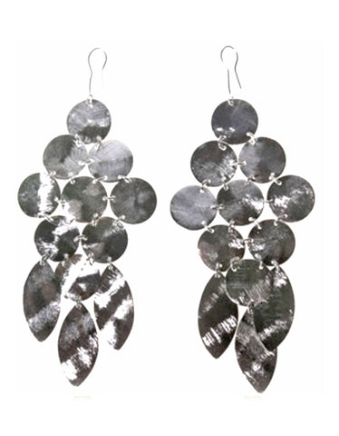 Silver Luxury Tear Chandelier Earrings