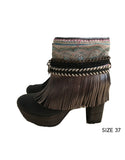 Boho Custom Made High Heel Boots - Black - SWANK - Shoes - 6