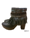 Boho Custom Made High Heel Boots - Black - SWANK - Shoes - 12