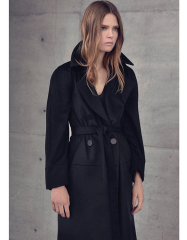 Alexis Sade Trench with Removable Raglan Sleeve Cape