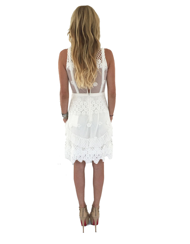 Alexis Saria Dress in White Embroidery - SWANK - Dresses - 3
