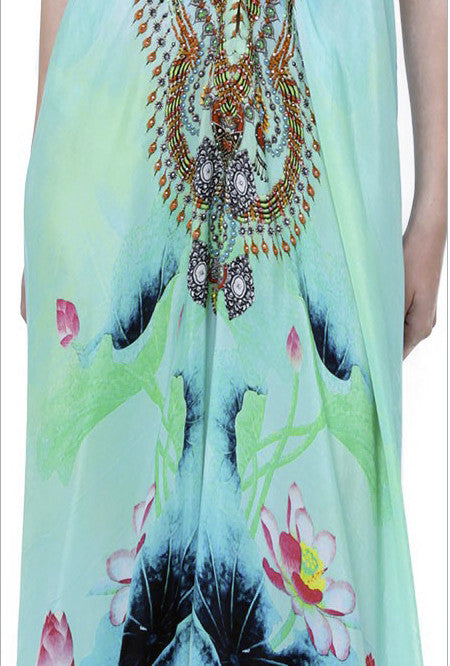Shahida Parides Lotus 3-Way Style Dress in Aqua - SWANK - Dresses - 7