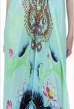 Shahida Parides Short 3-Way Style Dress in Aqua - SWANK - Dresses - 5