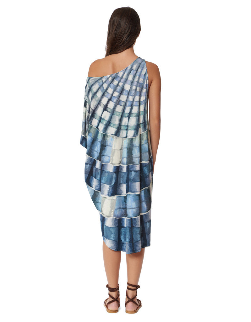 Mara Hoffman One Shoulder Dashiki in Shells Marine - SWANK - Dresses - 2