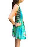 Shahida Parides Short 3-Way Style Dress in Aqua - SWANK - Dresses - 2