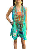 Shahida Parides Short 3-Way Style Dress in Aqua - SWANK - Dresses - 1