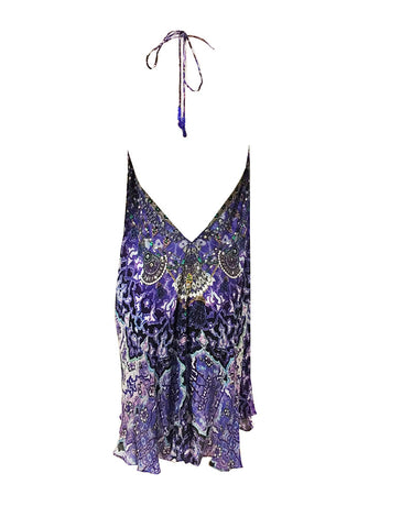 Shahida Parides Short 3-Way Style Dress in Purple Rain