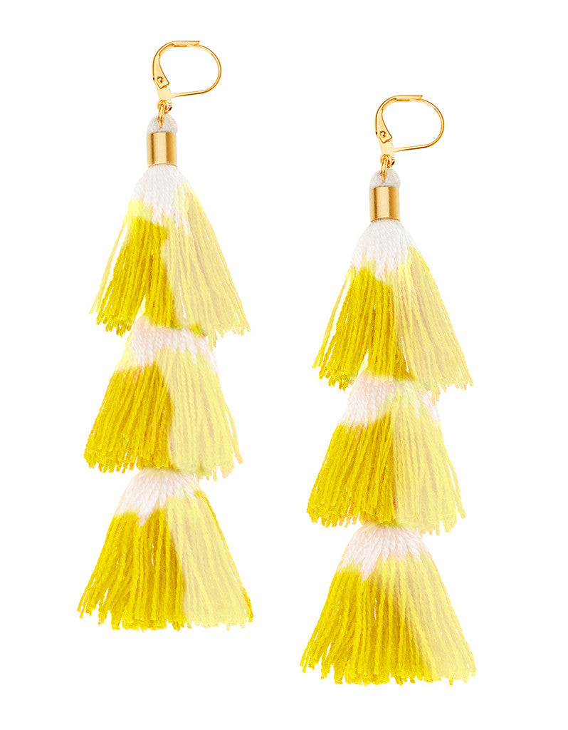 Shashi Sia Earring in Yellow