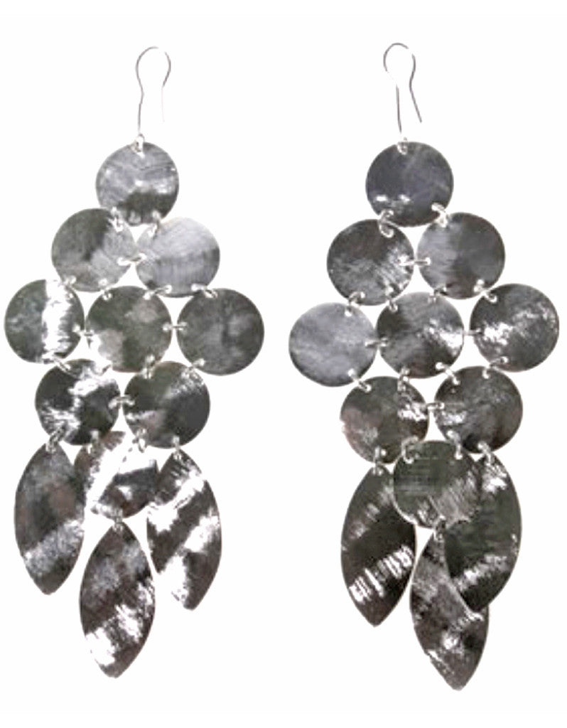 Chandelier Earrings in Silver - SWANK - Jewelry - 3