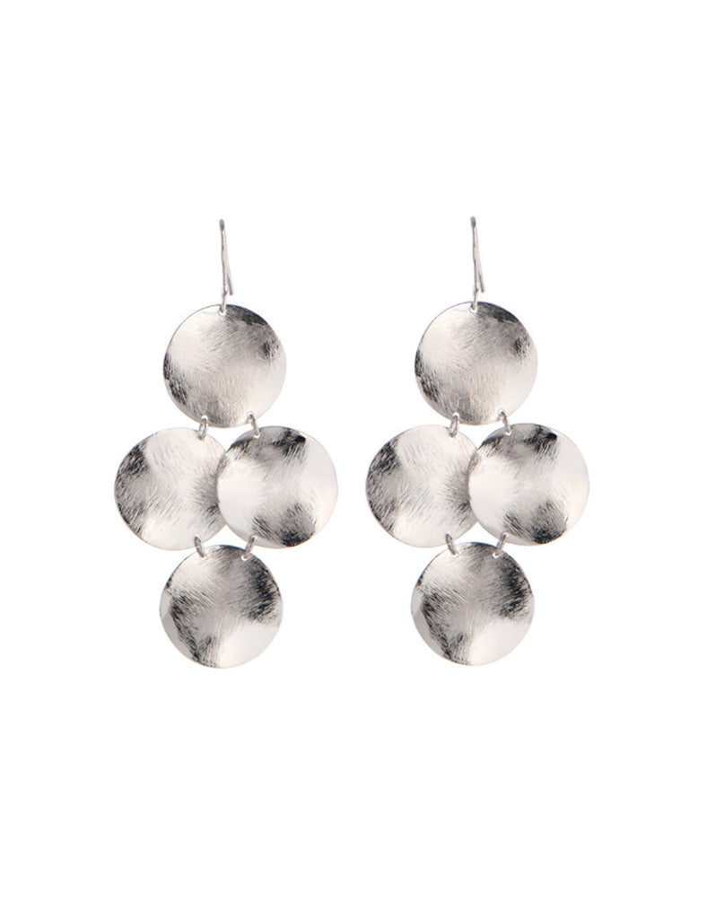 Marcia Moran Small Disc Earrings in Silver - SWANK - Jewelry - 2