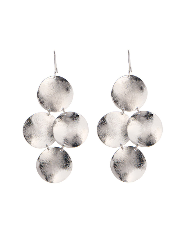 Marcia Moran Small Disc Earrings in Silver - SWANK - Jewelry - 1