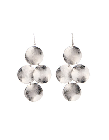 Marcia Moran Small Disc Earrings in Silver