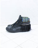 Custom Made Boho Sneakers in Black Snake | SIZE 41 - SWANK - Shoes - 5