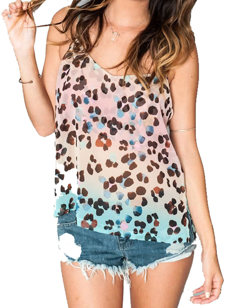 Show Me Your Mumu Spaghetti Top in Cheetahpop - SWANK - Tops - 5