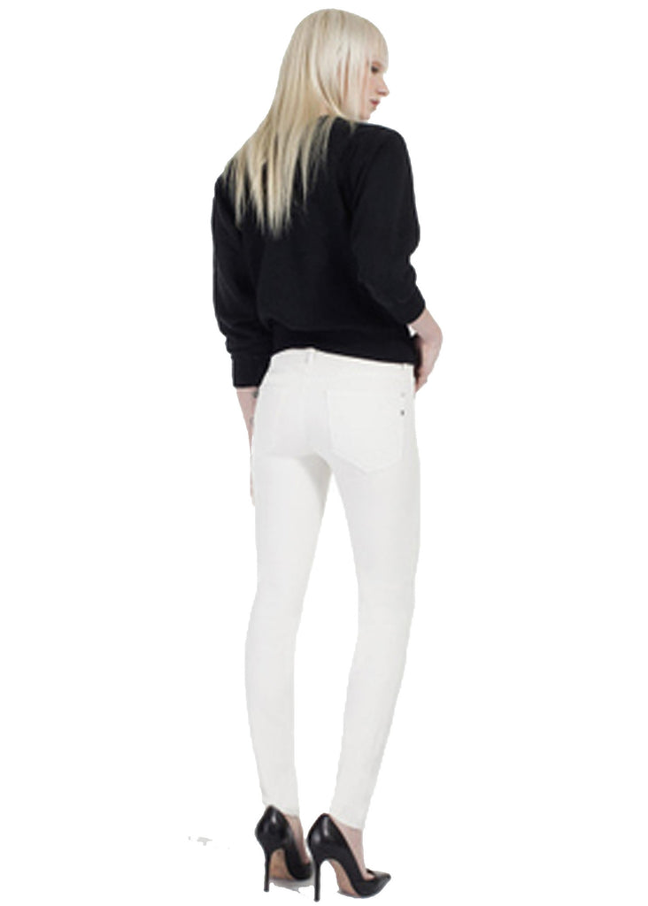 Genetic Denim Stem Mid Rise in Winter White - SWANK - Pants - 2