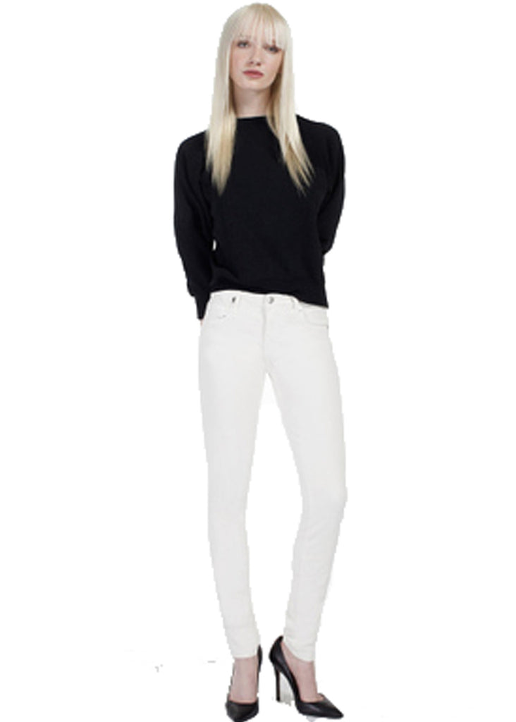 Genetic Denim Stem Mid Rise in Winter White - SWANK - Pants - 1