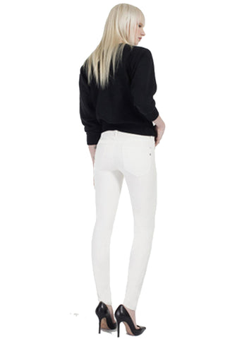 Genetic Denim Stem Mid Rise in Winter White
