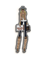 SWANK. Girl Illustration Iron On Patch