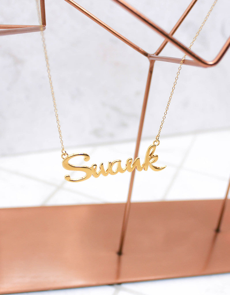 Gold Swank Necklace - SWANK - Jewelry - 6