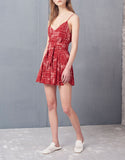 Alexis Taelor Romper in Red Paisley