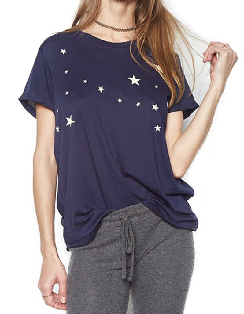 Michael Lauren Teo Classic Tee w/Stars in Twilight