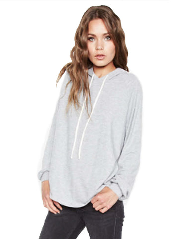 Michael Lauren Trevor Draped Pullover in Heather Grey