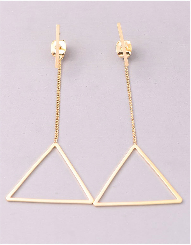 VINTAGE-SNOOT-TRIANGLE-DROP-EARRINGS-GOLD