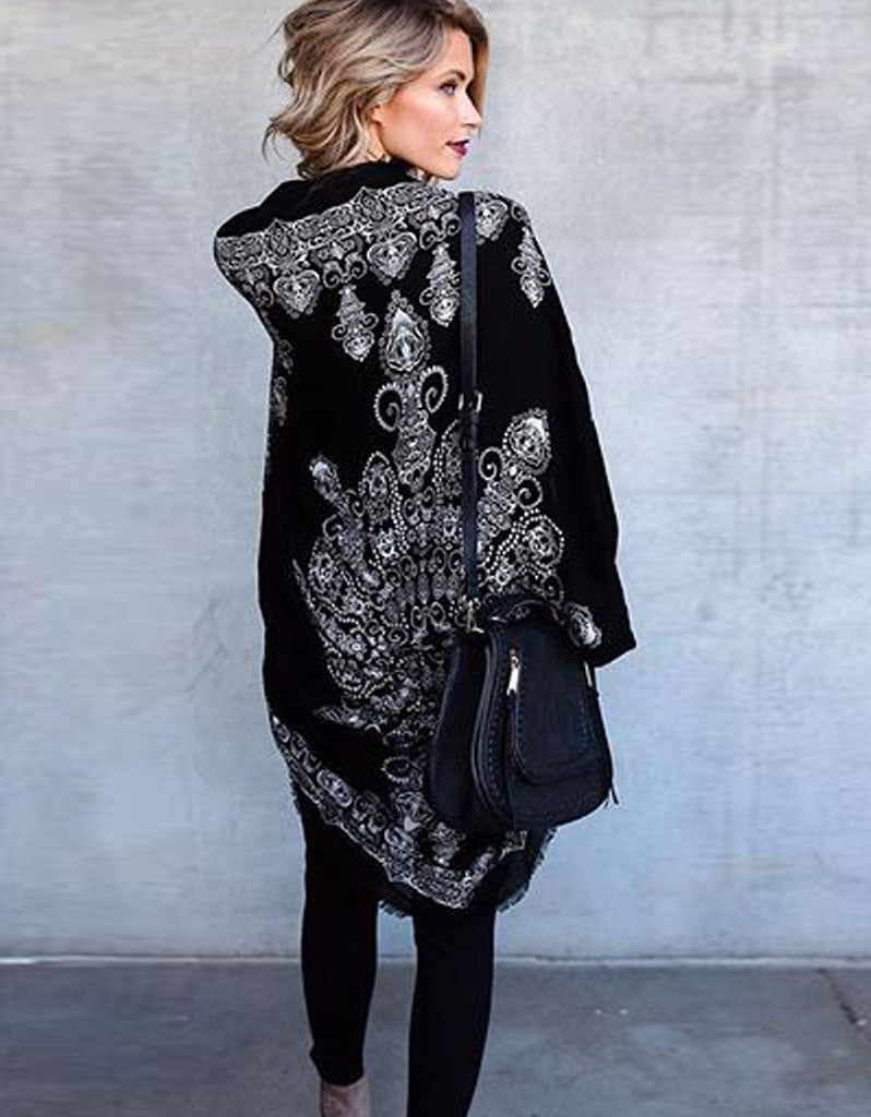 Trophy Wife Cocoon Cape in Black