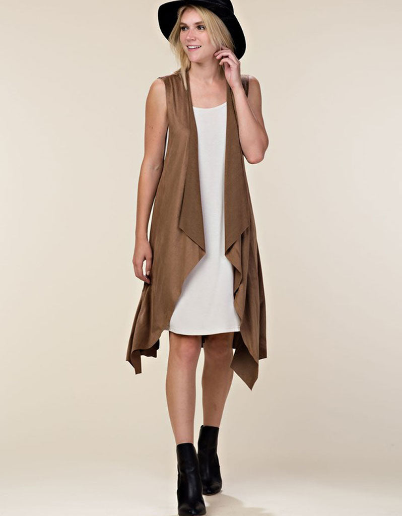 Down to Business Trench Vest in Mocha