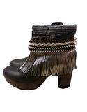 Boho Custom Made High Heel Boots - Black - SWANK - Shoes - 16