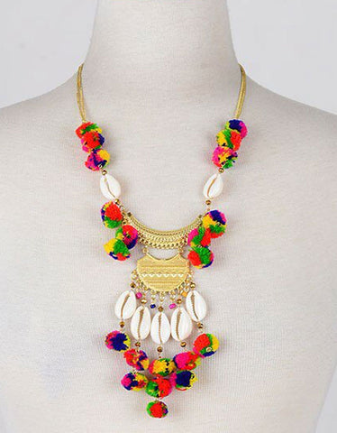 Vintage Snoot Gypset Pom Pom Necklace