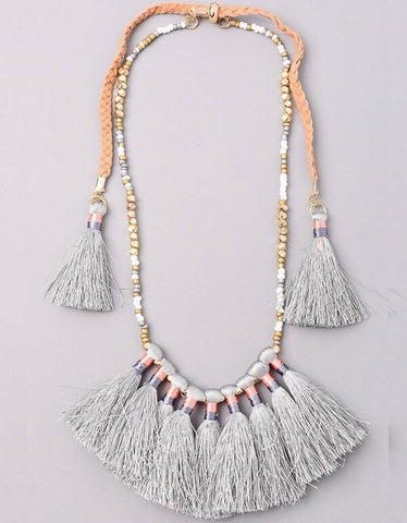 Vintage Snoot Luxe Boho Tassel Necklace