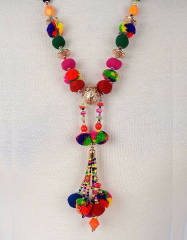 Vintage Snoot Milano Rainbow Necklace