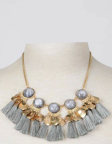 Luxe Military Short Necklace in Black
