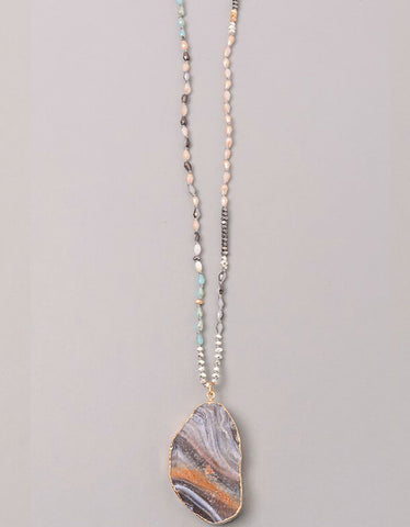 Vintage Snoot Moonstone Necklace in Grey