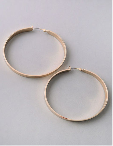 Vintage Snoot Gold Hoop Earrings