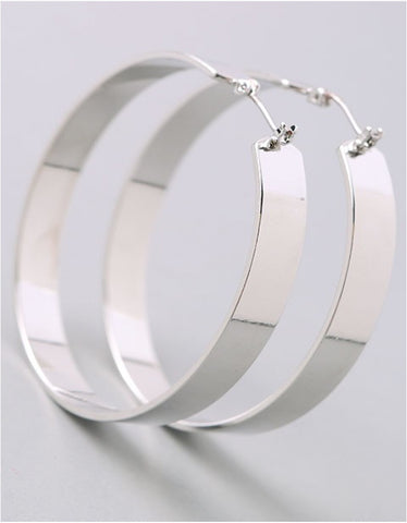 Vintage Snoot Silver Hoop Earrings