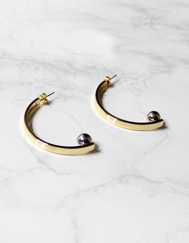 Jenny Bird Vela Earrings in Gold/Silver
