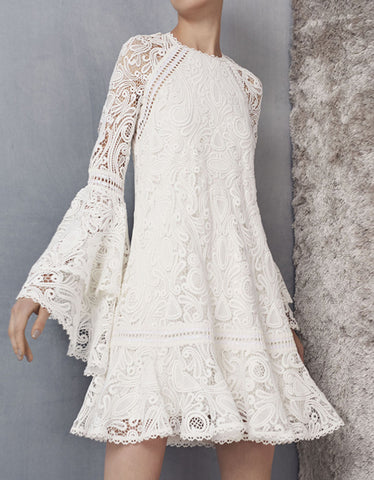 Alexis Veronique Dress in White Lace