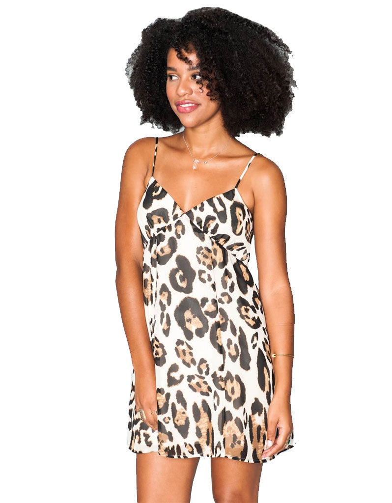 Show Me Your Mumu Winona Strappy Dress in Late Night Leopard - SWANK - Dresses - 2