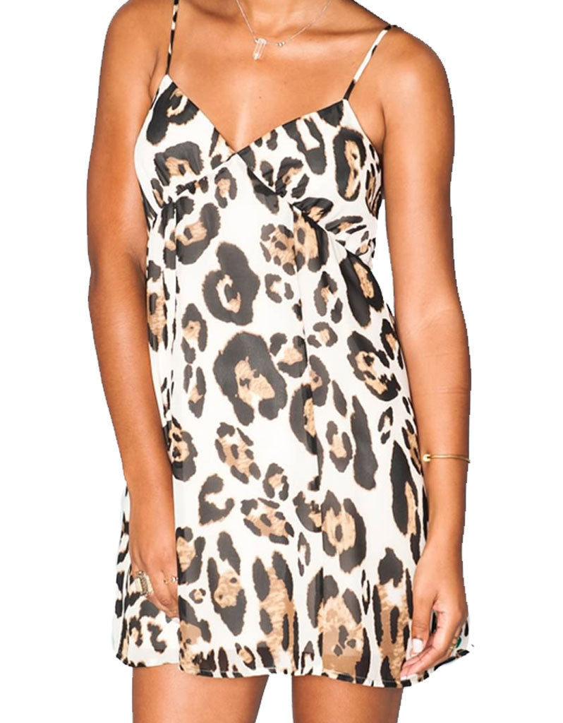 Show Me Your Mumu Winona Strappy Dress in Late Night Leopard - SWANK - Dresses - 5