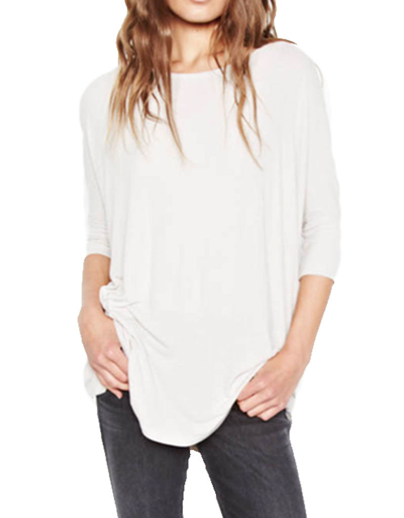 Michael Lauren York Scoop Neck Draped Tee - SWANK - Tops - 2