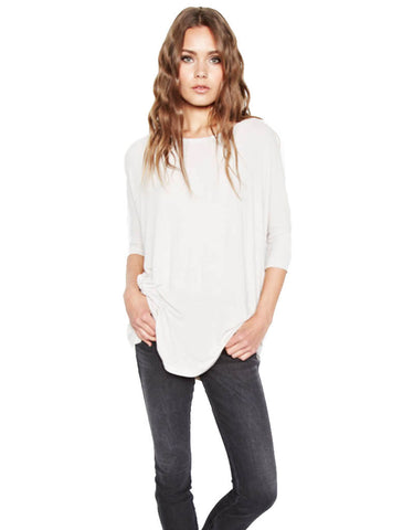 Michael Lauren York Scoop Neck Draped Tee